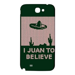 I Juan To Believe Ugly Holiday Christmas Green background Samsung Note 2 N7100 Hardshell Back Case