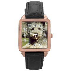 Pumi Rose Gold Leather Watch