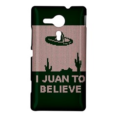 I Juan To Believe Ugly Holiday Christmas Green background Sony Xperia SP