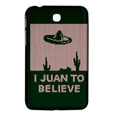 I Juan To Believe Ugly Holiday Christmas Green background Samsung Galaxy Tab 3 (7 ) P3200 Hardshell Case