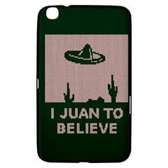 I Juan To Believe Ugly Holiday Christmas Green background Samsung Galaxy Tab 3 (8 ) T3100 Hardshell Case