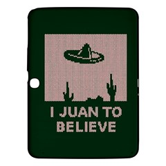 I Juan To Believe Ugly Holiday Christmas Green background Samsung Galaxy Tab 3 (10.1 ) P5200 Hardshell Case