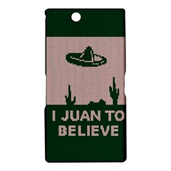 I Juan To Believe Ugly Holiday Christmas Green background Sony Xperia Z Ultra