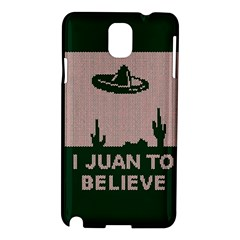 I Juan To Believe Ugly Holiday Christmas Green background Samsung Galaxy Note 3 N9005 Hardshell Case