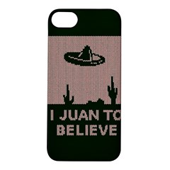 I Juan To Believe Ugly Holiday Christmas Green background Apple iPhone 5S/ SE Hardshell Case