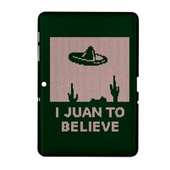 I Juan To Believe Ugly Holiday Christmas Green background Samsung Galaxy Tab 2 (10.1 ) P5100 Hardshell Case