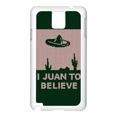 I Juan To Believe Ugly Holiday Christmas Green background Samsung Galaxy Note 3 N9005 Case (White)