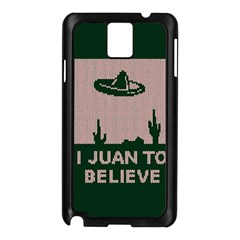 I Juan To Believe Ugly Holiday Christmas Green background Samsung Galaxy Note 3 N9005 Case (Black)