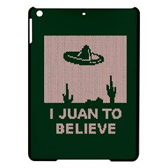 I Juan To Believe Ugly Holiday Christmas Green background iPad Air Hardshell Cases
