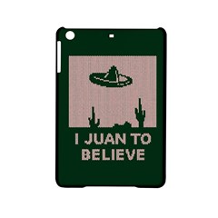 I Juan To Believe Ugly Holiday Christmas Green background iPad Mini 2 Hardshell Cases