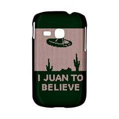 I Juan To Believe Ugly Holiday Christmas Green background Samsung Galaxy S6310 Hardshell Case