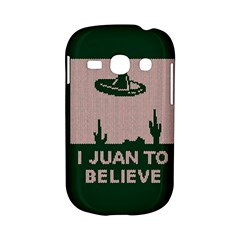 I Juan To Believe Ugly Holiday Christmas Green background Samsung Galaxy S6810 Hardshell Case