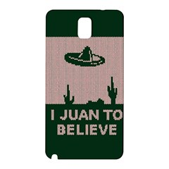 I Juan To Believe Ugly Holiday Christmas Green background Samsung Galaxy Note 3 N9005 Hardshell Back Case