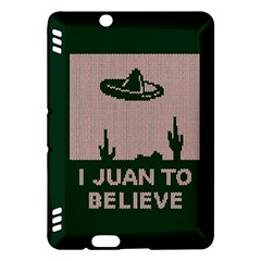 I Juan To Believe Ugly Holiday Christmas Green background Kindle Fire HDX Hardshell Case