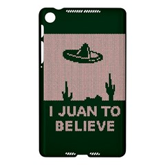 I Juan To Believe Ugly Holiday Christmas Green background Nexus 7 (2013)