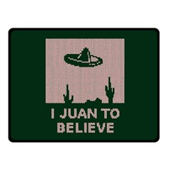 I Juan To Believe Ugly Holiday Christmas Green background Double Sided Fleece Blanket (Small)