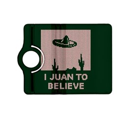I Juan To Believe Ugly Holiday Christmas Green background Kindle Fire HD (2013) Flip 360 Case