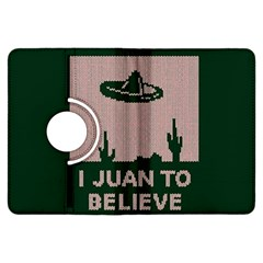 I Juan To Believe Ugly Holiday Christmas Green background Kindle Fire HDX Flip 360 Case