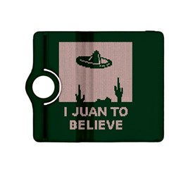 I Juan To Believe Ugly Holiday Christmas Green background Kindle Fire HDX 8.9  Flip 360 Case