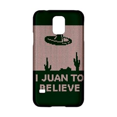 I Juan To Believe Ugly Holiday Christmas Green background Samsung Galaxy S5 Hardshell Case