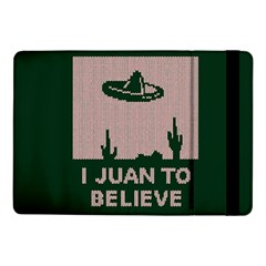 I Juan To Believe Ugly Holiday Christmas Green background Samsung Galaxy Tab Pro 10.1  Flip Case