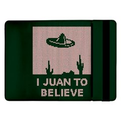 I Juan To Believe Ugly Holiday Christmas Green background Samsung Galaxy Tab Pro 12.2  Flip Case