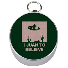 I Juan To Believe Ugly Holiday Christmas Green background Silver Compasses