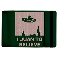 I Juan To Believe Ugly Holiday Christmas Green background iPad Air Flip