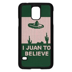 I Juan To Believe Ugly Holiday Christmas Green background Samsung Galaxy S5 Case (Black)