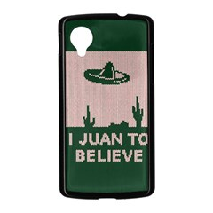 I Juan To Believe Ugly Holiday Christmas Green background Nexus 5 Case (Black)