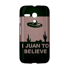 I Juan To Believe Ugly Holiday Christmas Green background Motorola Moto G