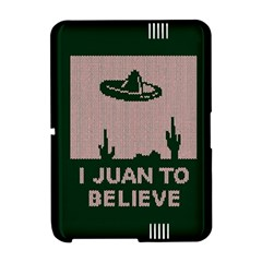 I Juan To Believe Ugly Holiday Christmas Green background Amazon Kindle Fire (2012) Hardshell Case