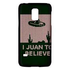 I Juan To Believe Ugly Holiday Christmas Green background Galaxy S5 Mini