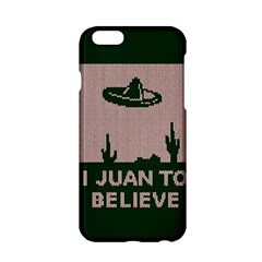 I Juan To Believe Ugly Holiday Christmas Green background Apple iPhone 6/6S Hardshell Case