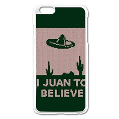 I Juan To Believe Ugly Holiday Christmas Green background Apple iPhone 6 Plus/6S Plus Enamel White Case