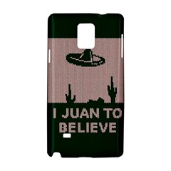 I Juan To Believe Ugly Holiday Christmas Green background Samsung Galaxy Note 4 Hardshell Case