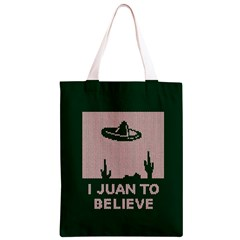 I Juan To Believe Ugly Holiday Christmas Green background Classic Light Tote Bag