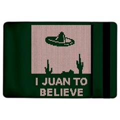 I Juan To Believe Ugly Holiday Christmas Green background iPad Air 2 Flip