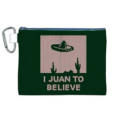 I Juan To Believe Ugly Holiday Christmas Green background Canvas Cosmetic Bag (XL)