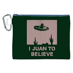 I Juan To Believe Ugly Holiday Christmas Green background Canvas Cosmetic Bag (XXL)