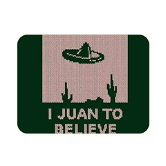 I Juan To Believe Ugly Holiday Christmas Green background Double Sided Flano Blanket (Mini)