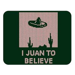 I Juan To Believe Ugly Holiday Christmas Green background Double Sided Flano Blanket (Large)