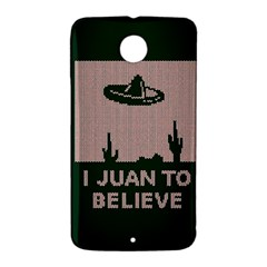 I Juan To Believe Ugly Holiday Christmas Green background Nexus 6 Case (White)