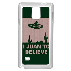 I Juan To Believe Ugly Holiday Christmas Green background Samsung Galaxy Note 4 Case (White)
