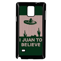 I Juan To Believe Ugly Holiday Christmas Green background Samsung Galaxy Note 4 Case (Black)