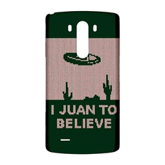 I Juan To Believe Ugly Holiday Christmas Green background LG G3 Back Case