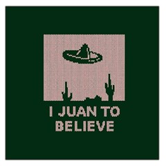 I Juan To Believe Ugly Holiday Christmas Green background Large Satin Scarf (Square)