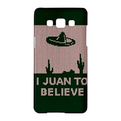 I Juan To Believe Ugly Holiday Christmas Green background Samsung Galaxy A5 Hardshell Case