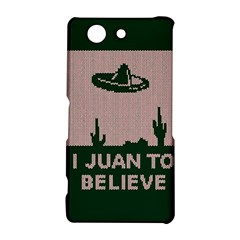 I Juan To Believe Ugly Holiday Christmas Green background Sony Xperia Z3 Compact