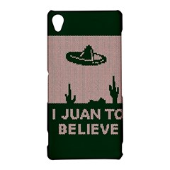 I Juan To Believe Ugly Holiday Christmas Green background Sony Xperia Z3